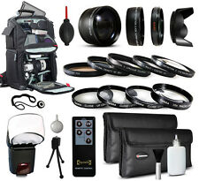 Backpack Lenses Filters Accessories for Nikon D3300 D5000 D5100 D5200 D5300 DSLR