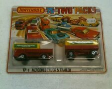 "Vintage Matchbox 75 ""two"" packs TP-1 Mercedes Truck & Trailer"