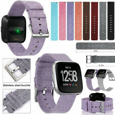 Replacement Canvas Woven Nylon Band Strap Wristband For Fitbit Versa Smart Watch