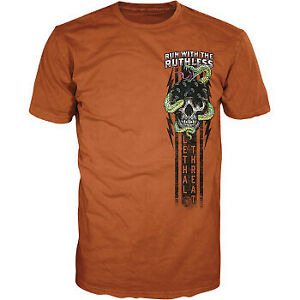 Lethal Threat Run with the Ruthless T-Shirt Orange All Sizes