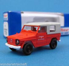 Roco H0 1728 MB G Modell Feuerwehr Geländewagen Wolf Weissenfels OVP HO 1:87