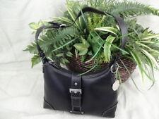 Duckhead Handbag - Black Faux Leather Shoulder Purse - P002