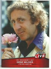 2016 Leaf Live card #1 Gene Wilder In Memory Of 1933-2016 Print Run of only 233