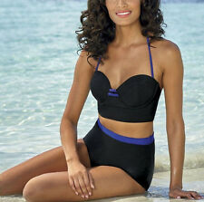 woman's sz 16 Deep Blue Retro Colorblock 2-Piece Swimsuit nwt