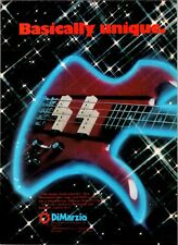 1980 VINTAGE 8X11 PRINT Ad FOR DiMARZIO PICKUP BC RICH MOCKINGBIRD BASS GUITAR