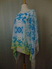 INC International Concepts Beach Tie Dye Kimono Sleeve Printed Top Large #500