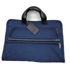Tumi Laptop Bag Navy Organizer Brief Case Nylon No Shoulder Strap