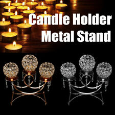 Crystal Votive Candle Tealight Holder Wedding Table Candlestick Candelabra  US