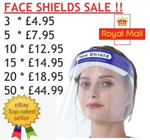 CHEAPEST FULL FACE SHIELD VISOR PROTECTION MASK PPE COVER CLEAR PLASTIC