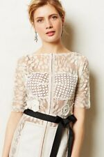 Rare Anthropologie Carissima Sheath Dress by Byron Lars Ivory White Size 12