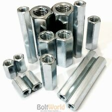 HIGH HEX CONNECTION NUTS HEXAGON CONNECTOR CONNECTING ROD BAR STUD LONG NUT ZINC