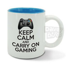 KEEP CALM carry on GAMING mug cup gamer video games xbox 360 game console