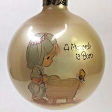 Vintage 1984 Precious Moments Glass Christmas Ornament A Monarch Is Born