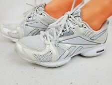 Women's Reebox  Easy Tone White Silver Running Shoes Athletic Sneakers SZ 8