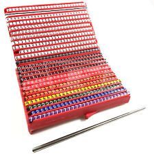 600 PIECE COLOUR CODED ELECTRICAL CABLE MARKER CASSETTE 1.7 - 2.8mm 0.5 - 0.75mm
