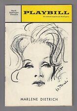 An Evening With MARLENE DIETRICH / Burt Bacharach 1968 Broadway Concert Playbill