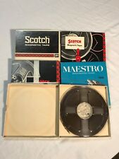 Reel To Reel Recording Tapes Mixed Brand Lot USED QTY 5 - Scotch, Maestro, Misc