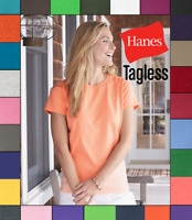 NEW Hanes Women's ComfortSoft Heavyweight 100% Cotton Tagless S-3XL T-Shirt 5680