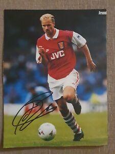 Signed Dennis Bergkamp Photo with COA