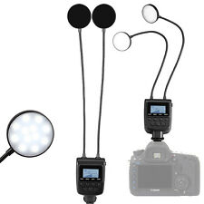 Macro TWIN LED Ring Flash Light ML-2D  for Nikon Canon Olympus Sony DSLR Camera