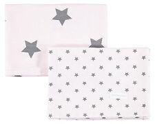 BELLYBUTTON 0007137 Moltontücher 2er Set rosa mit grauen Sternen  NEU
