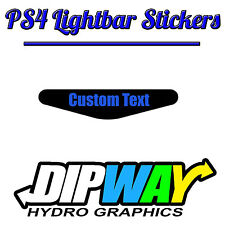 2X Playstation PS4 Controller Light Bar Decal Name Personalised Vinyl Stickers