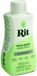 Rit Dye Liquid 8oz - All Purpose Dye - Same Day Shipping (Neon Green)