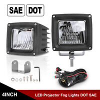 """2x PRO 3"""" SAE DOT LED Fog lights Driving Lamps Front Bumper Offroad Trucks 4x4WD"""