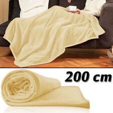 Plaid Couverture Crème - 200X150 Cm  - Canapé Chambre Plaid - Dessus De Lit