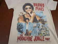 Bruno Mars The Moonshine Jungle 2 Sided Concert Tour Tan T- Shirt Size Small  L4