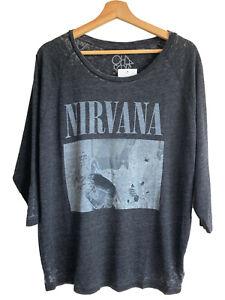"Nirvana ""Bleach"" Boxy t-shirt by Chaser Brand 90's Grunge Band Tee Kurt Cobain"