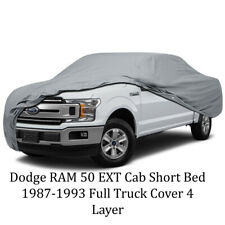 Dodge RAM 50 EXT Cab Short Bed 1987-1993 Full Truck Cover 4 Layer