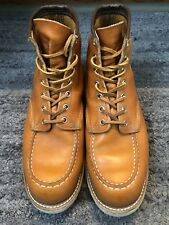 Red Wing Moc Toe 9875 Limited Edition Irish Gold Setter Gold Russet Boots 10.5