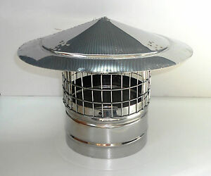 Chimney Cowl with Bird Guard Stainless Steel Chimney Cover Fireplace Patch