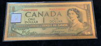 24K GoldFoil Canada One Dollar Note* with RCM 1/10 oz  2018 Silver 9999 Bar