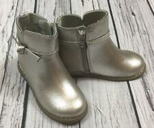 08df968421fc Baby Gap Girls Size 9 Toddler Silver Boots. Zip Silver Boots. Nwt