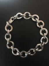 9ct White Gold Ladies Chain Bracelet