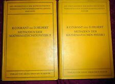 COURANT und HILBERT, Mathematische Physik 2V 1stEd Math Physics 1923, 1937