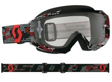 MASCHERA MASCHERINA MX CROSS SCOTT MX GOGGLE HUSTLE RED ROSSO NERO ANTIFOG