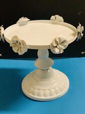 """ROUND CAKE STAND Metal WHITE 8"""" Modern Dessert Wedding Birthday Party Event"""