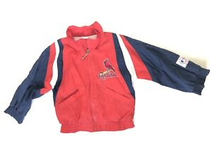 Mighty Mac St Louis Cardinals Patch Boys Girls Vintage Coat Jacket 4t 5 6 Rare