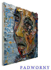 ORIGINAL█OIL█PAINTING█LARGE█IMPRESSIONIST█ART█POP█REALISM█SIGNED█FOLK█ABSTRACT█A
