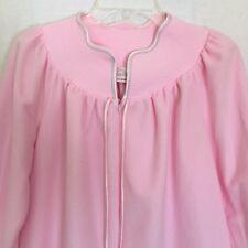 Vintage Vandemere Womens Robe Medium Pink Long Modest Nightgown Soft Usa
