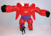 "RARE 11""  Disney Bandia BIG HERO 6 Baymax Red Armour Toy & Hiro Hamada Tested"