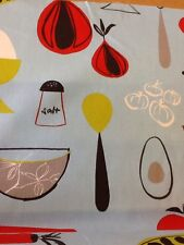 Harlequin Scion Fabric Peas and Carrots Kitchen design In Blue by the  metre