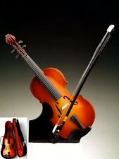 "Miniature Musical Instrument - 7"" VIOLIN MINIATURE W/STAND & CASE - Brand new!"