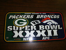 "Super Bowl XXXII Packers vs. Broncos License Plate 12"" x 6"""