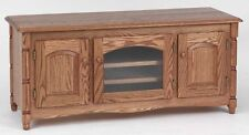 #878 Solid Wood Oak Country TV Stand