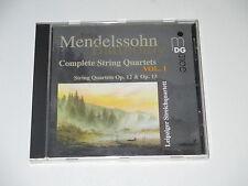 CD/MENDELSSOHN/COMPLETE STRING QUARTETS VOL.1/LEIPZIGER STREICHQUARTETT/MDG GOLD