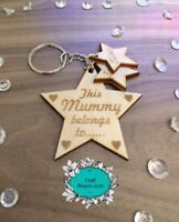 Personalised this Daddy belongs to keyring, Christmas, Dad, Grandad, Fathers day